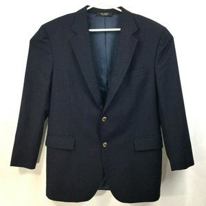 Jos A Bank Navy Blue Blazer - Gold Buttons - 43R